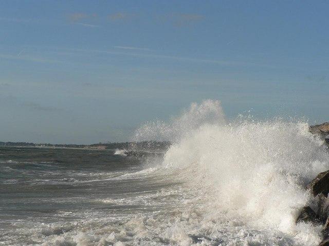 Waves pounding the rocks