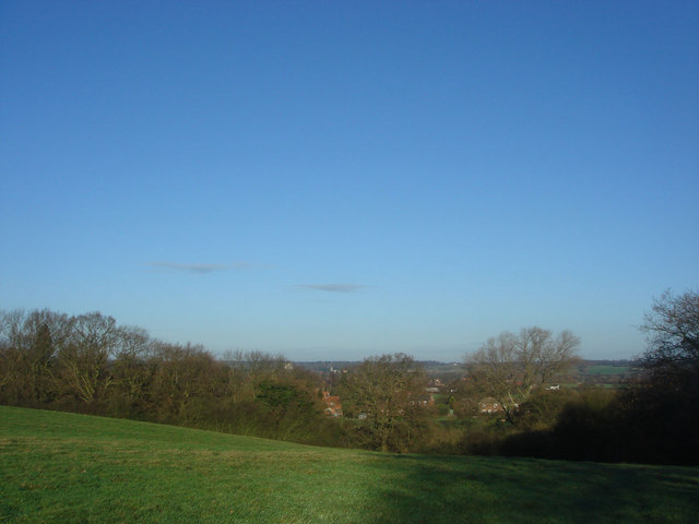 View of the Dedham Vale from the Essex Way at Dedham Heath