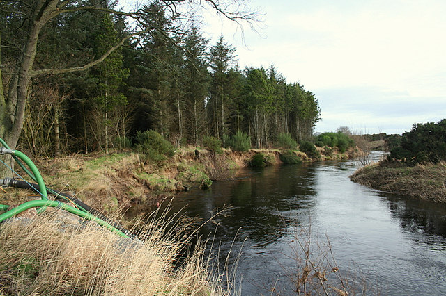 River Lossie by the pump house at Caysbriggs