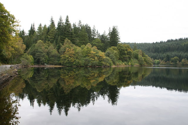 Wooded shores of Loch Ard