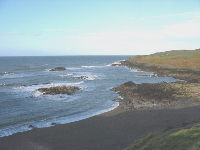 View north across the Borth Wen inlet