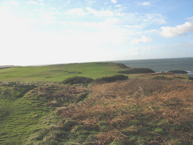 Path through the rough at Porthdinllaen Golf Course