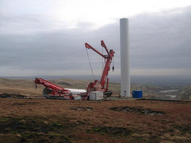 Turbine Tower No 18 under construction