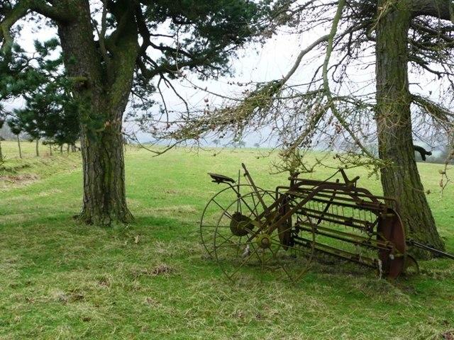 Just below the moorland