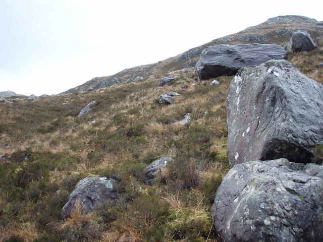 Erratics on the slopes of Meall na Mèine