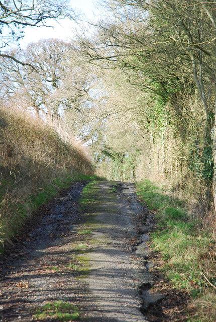 Stalbridge lane - metalled surface crumbling