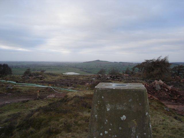 Trig Point on Blaze Fell looking towards Barrock Fell