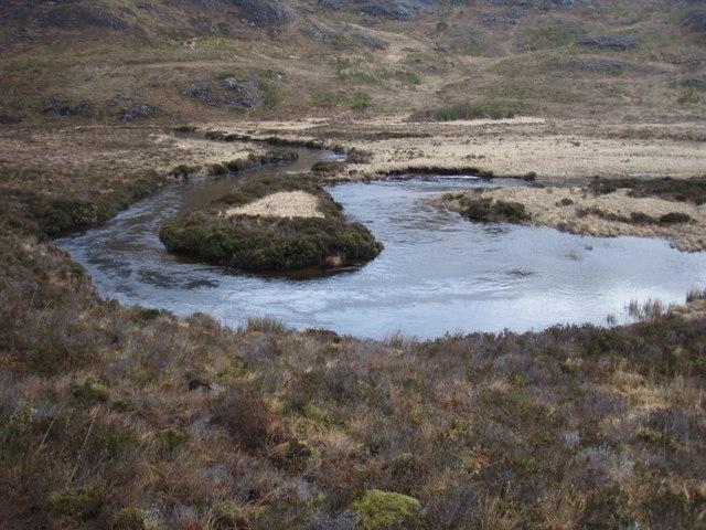 Bend in the Abhainn a' Gharbh-Choire