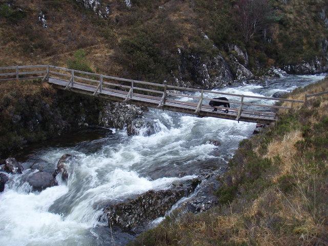 Bridge over Abhainn a' Gharbh-Choire