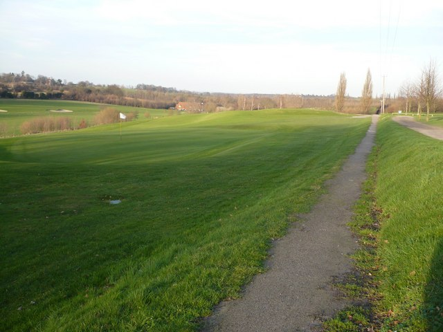 Boughton Golf Course and footpath near South Street