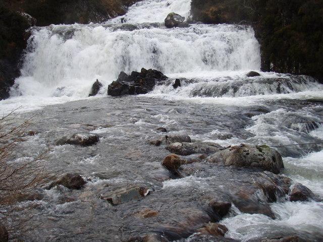Falls on the Abhainn a' Gharbh-Choire