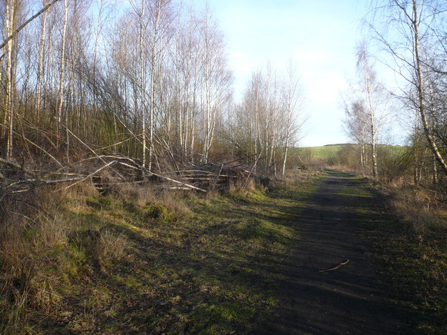 Westhouses - Track through Former Engine Shed Site