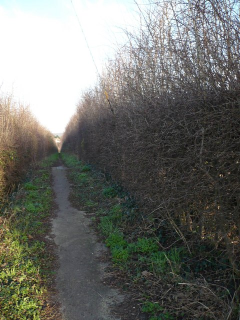 Footpath to Boughton Street, known as the coffin track