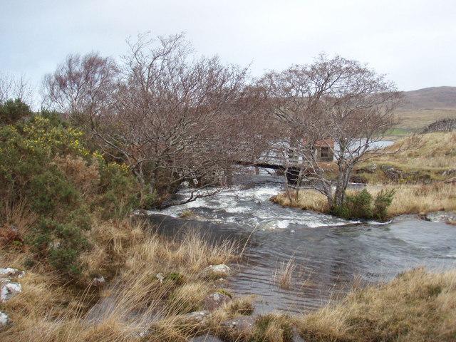 River draining Loch nan Dailthean
