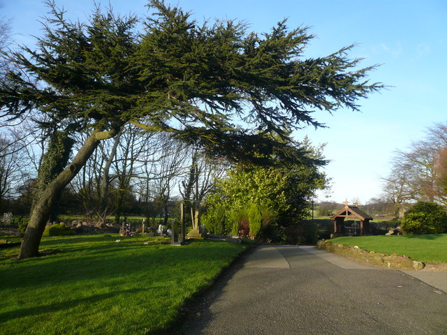 Blackwell - St. Werburgh's Church path leading to Main Entrance