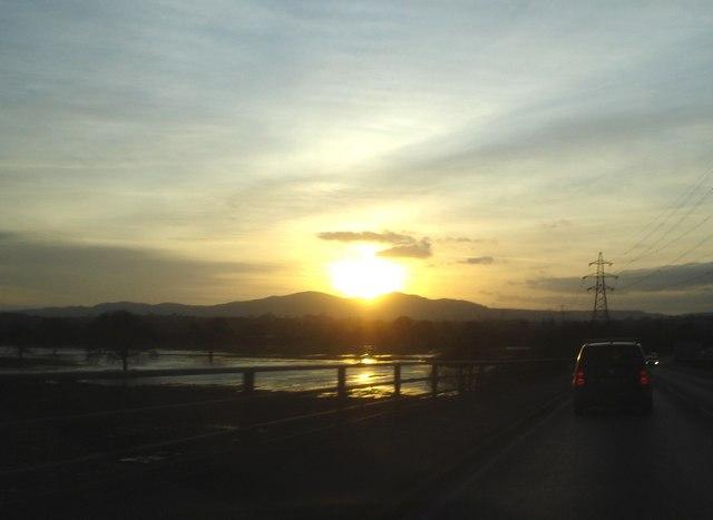 Sunset over The Malvern Hills