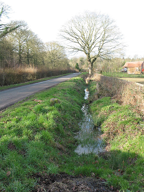 Roadside ditch at Shaw Common