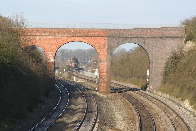 Cholsey Station through Silly Bridge