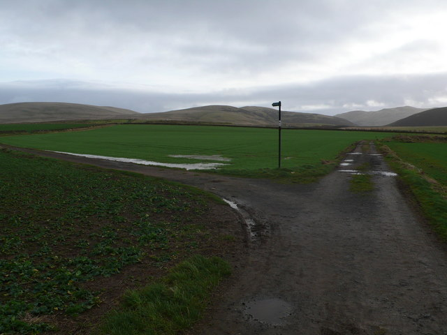 Path junction leading to Glencorse