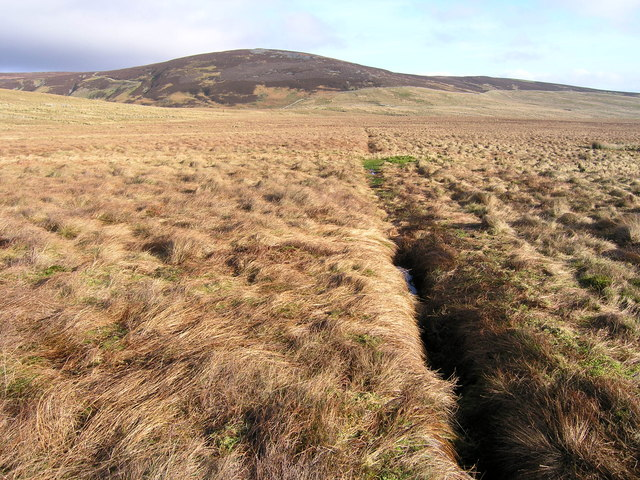 Drainage channel on Blind Gill Moss