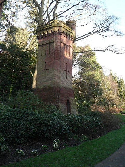 Bournemouth Gardens: the water tower