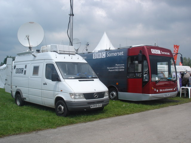BBC vehicles at the 2007 Bath & West Show.