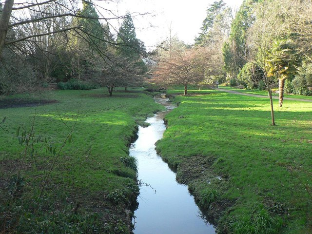 Bournemouth Gardens: upstream from Queen's Road