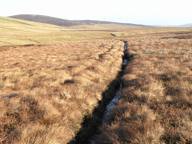 Drainage channel on Lune Head Moss