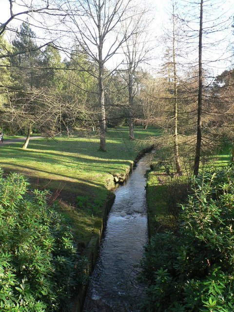 Bournemouth Gardens: downstream from Queen's Road