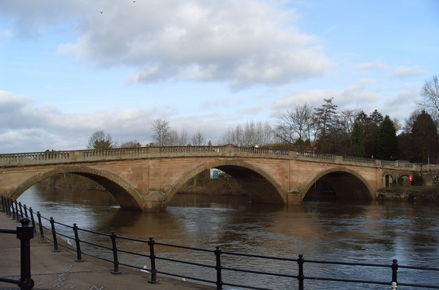 Bewdley Bridge Over The River Severn