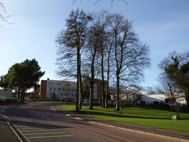 Road entering Torbay Hospital