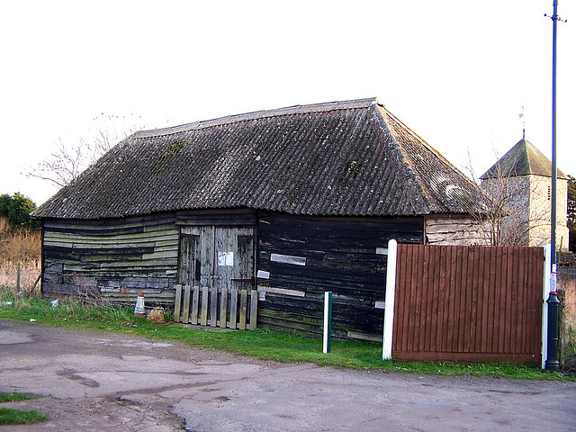 Wooden barn in Iwade