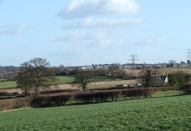 Farmland at Lower Penn, Staffordshire