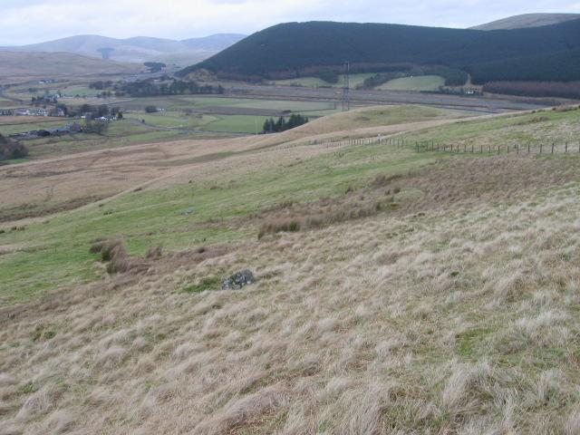 Towards Elvanfoot from Reeve Gair below Watchman Hill