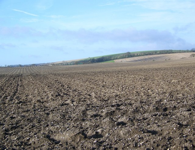 Recently ploughed field near Bishopstone