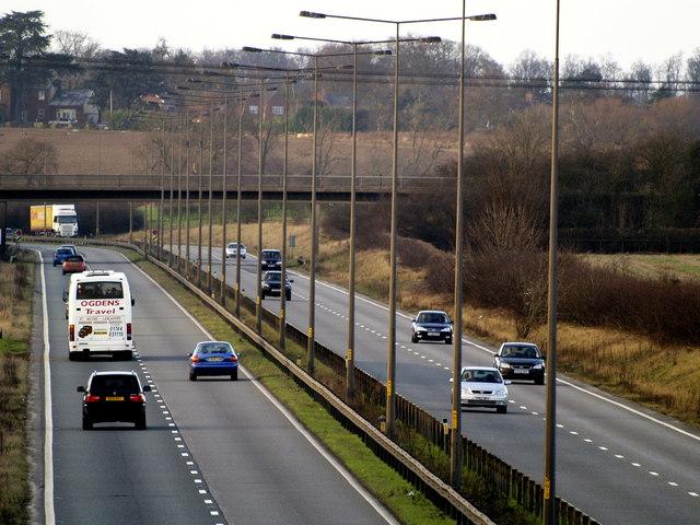 The A63 near Brantingham