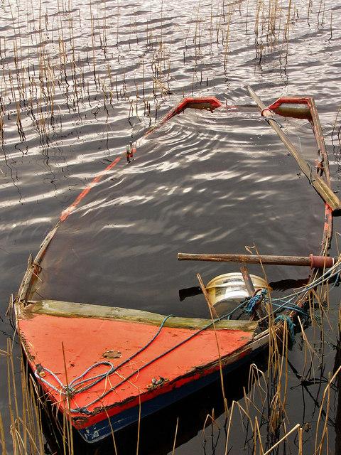 Fishing boat on Dervaird Loch