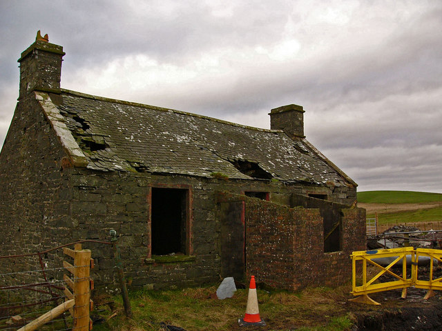 Ruined cottage at Dervaird