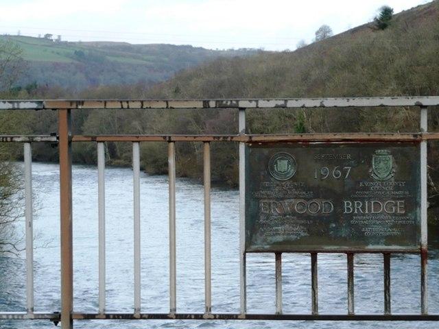 River Wye at Erwood bridge
