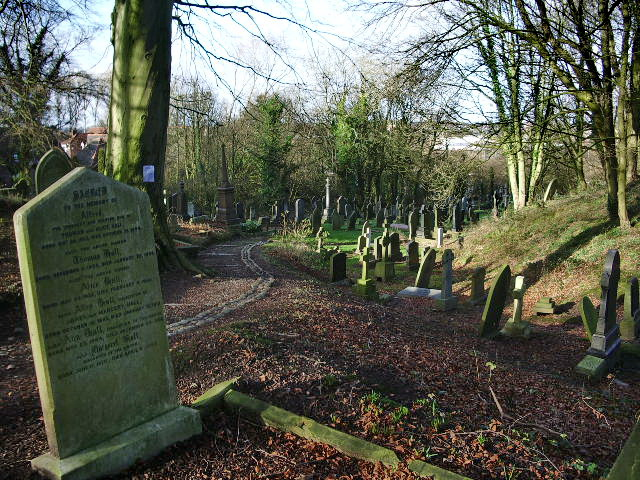 St Mary's Parish Church, Penwortham, Footpath in graveyard