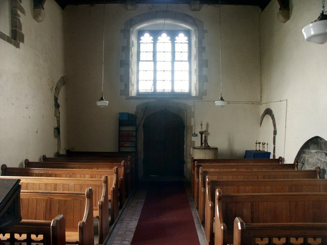 Interior of the Church of St Peter, Lusby