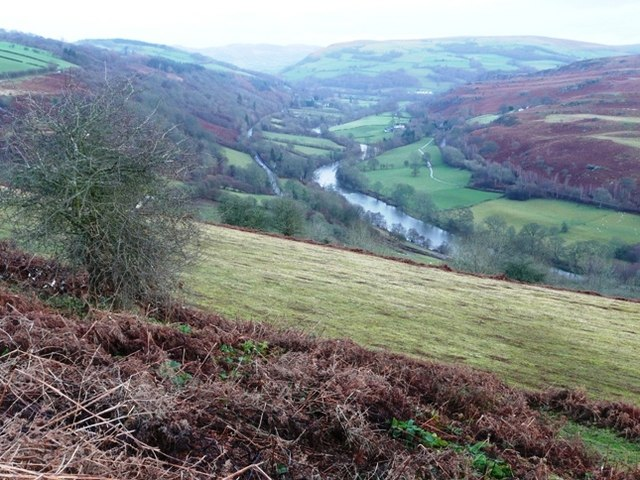 Wye valley from Twmpath