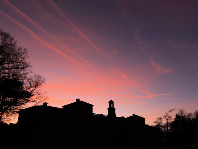 Stable block sunset at Wentworth Woodhouse