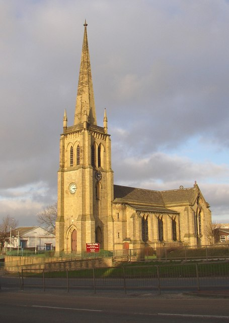St John's Church in the sunshine, Wakefield Road, Bowling, Bradford