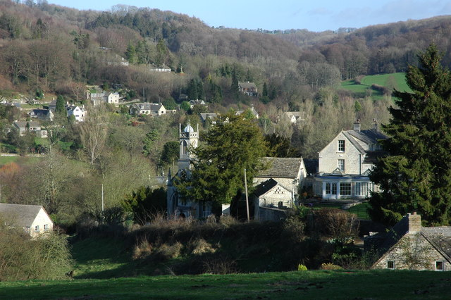 The village of Sheepscombe