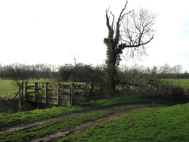 Footbridge across a drainage ditch