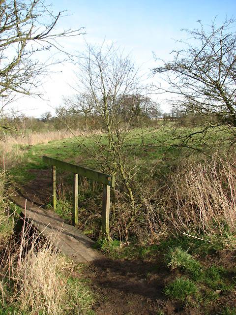 Footbridge on path