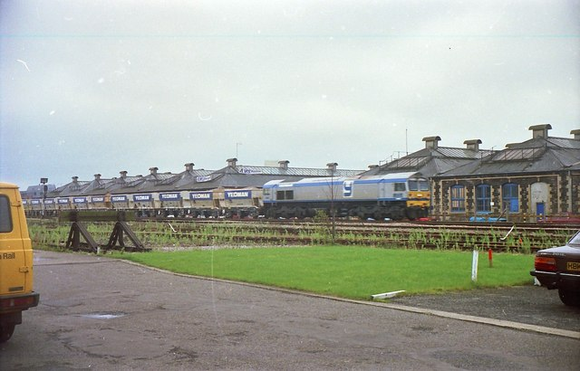 Class 59 Hauled Stone Train.