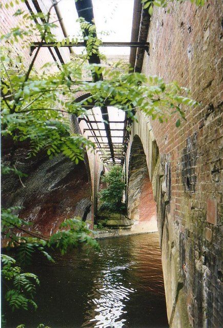 Between the arches