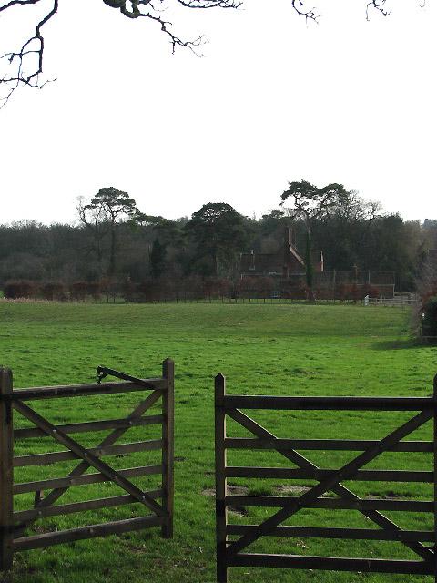 View past churchyard gate